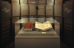 The Gutenberg Bible at the Harry Ransom Center, the University of Texas at Austin.